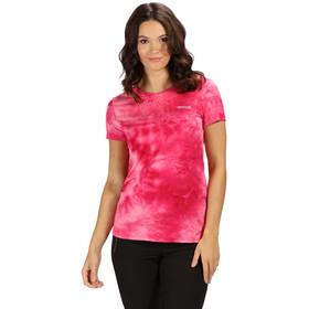 Regatta Fingal IV Bluzka z krótkim rękawem Kobiety, neon pink tie-dye